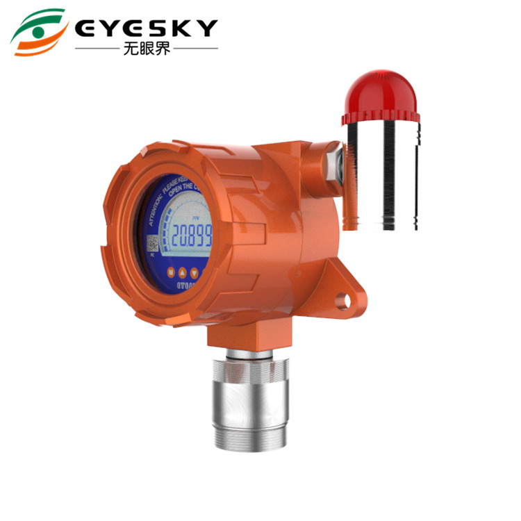 Exd II CT6 IP66 Hydrogen Gas Leak Detector Three Colors Backlight