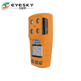 orange color portable 4 gases detector for gas station use with rechargeable battery